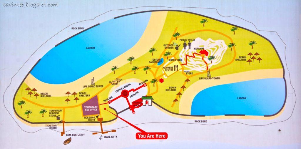 kusu island map Singapore